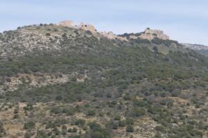 מצודת נמרוד מעל מפל סער